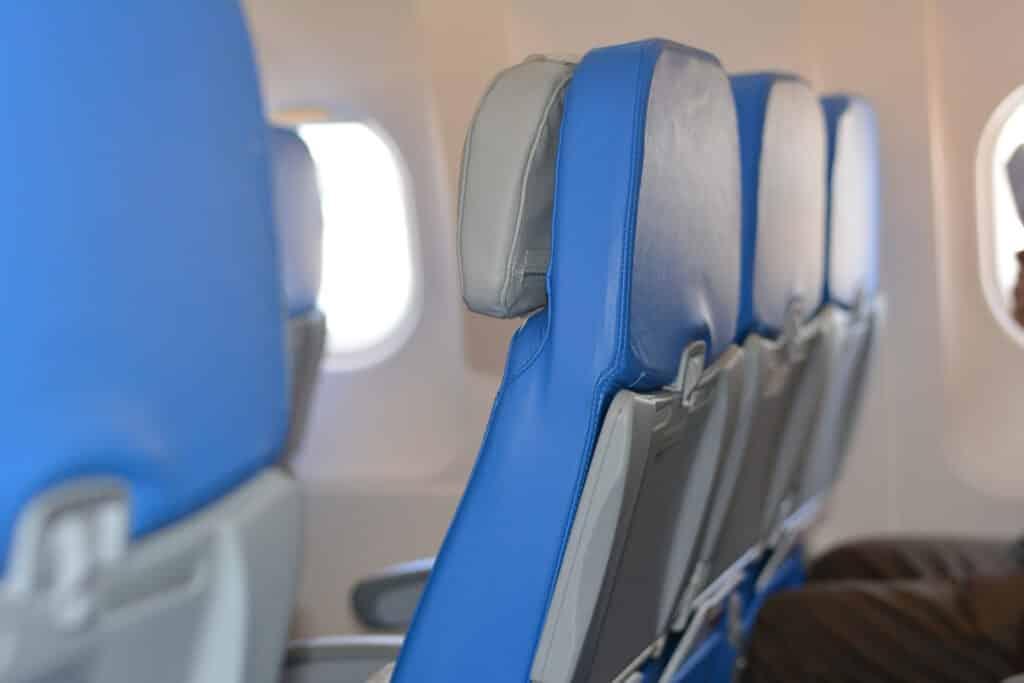 Selecteer met virtual reality een vliegtuigstoel