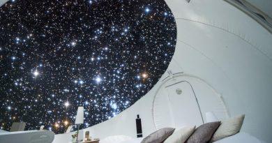 Slapen in een air-bubble op 85m hoogte