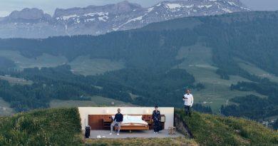 Slapen in 'nul sterrenhotel' in Alpenwei