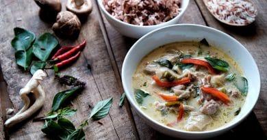 De Thaise groene curry gekte