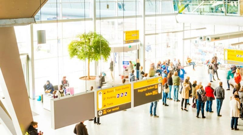 Aantal passagiers Nederlandse luchthavens neemt toe