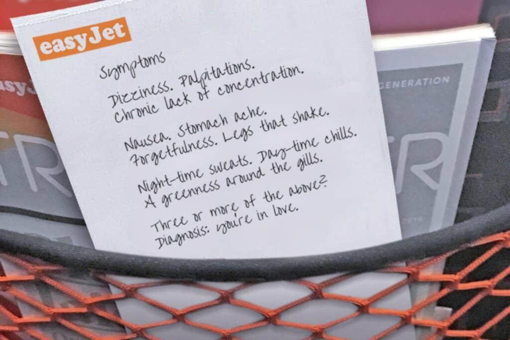 easyJet lanceert 'Love Sick' gedichtenwedstrijd