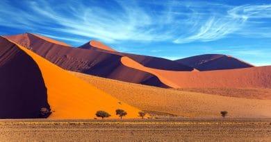 Sandboarden doe je in Namibië