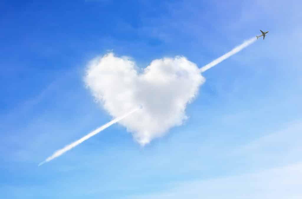 De liefde hangt (letterlijk) in de lucht