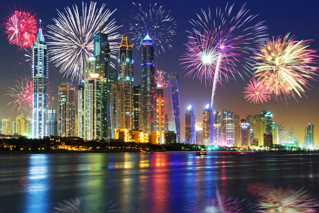 New Year fireworks display in Dubai