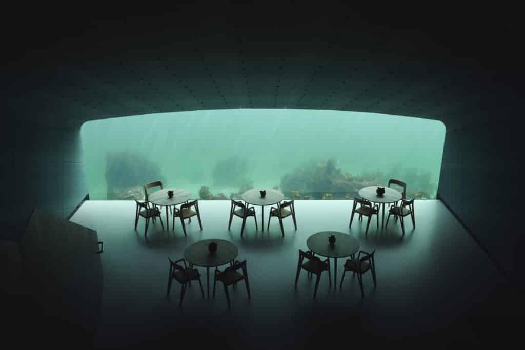 Europa's eerste onderwaterrestaurant geopend in Noorwegen