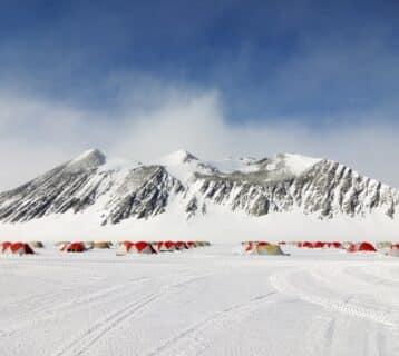 Staff accommodatie bij Union Glacier Camp.