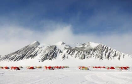 Staff accommodatie bij Union Glacier Camp.