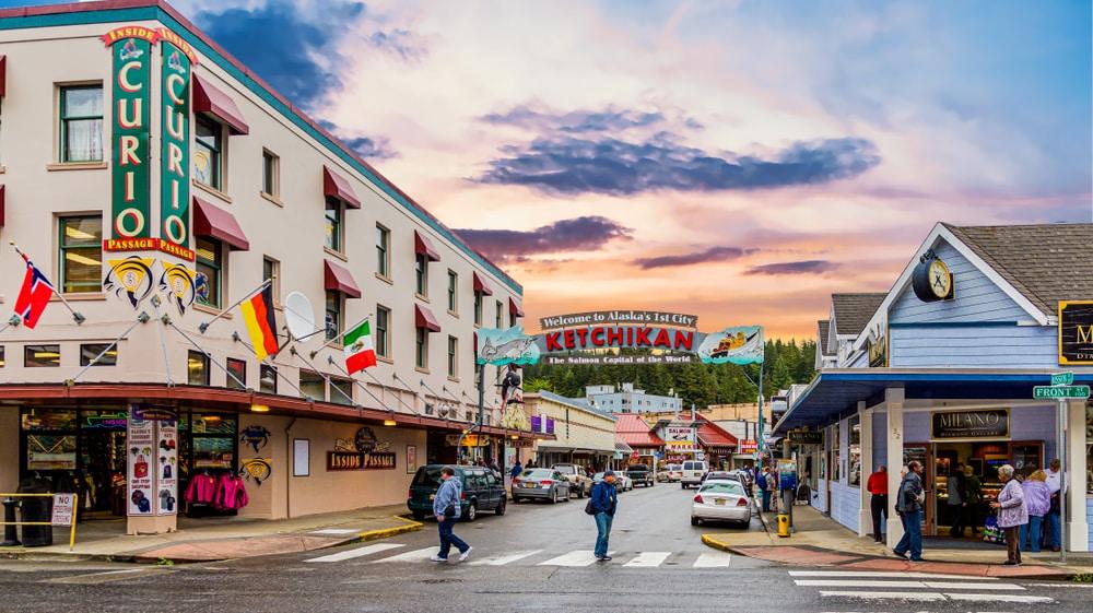 Ketchikan, een rustieke stad in Alaska.