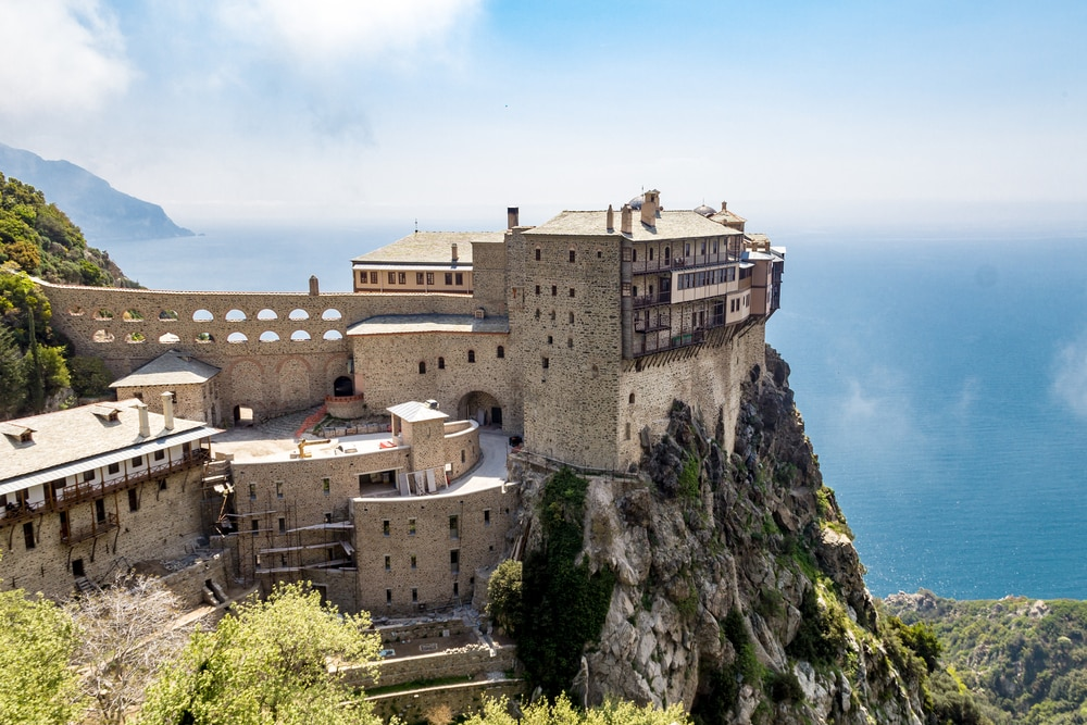 Simonopetra klooster op Mount Athos.