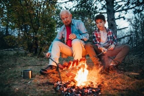 Op vakantie met de grootouders.