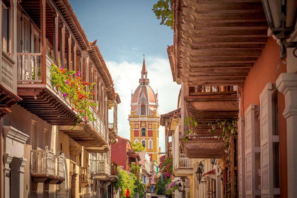Talloze fotogenieke straatjes van Cartagena.