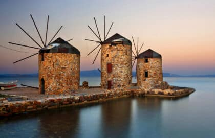 Windmolens op Chios