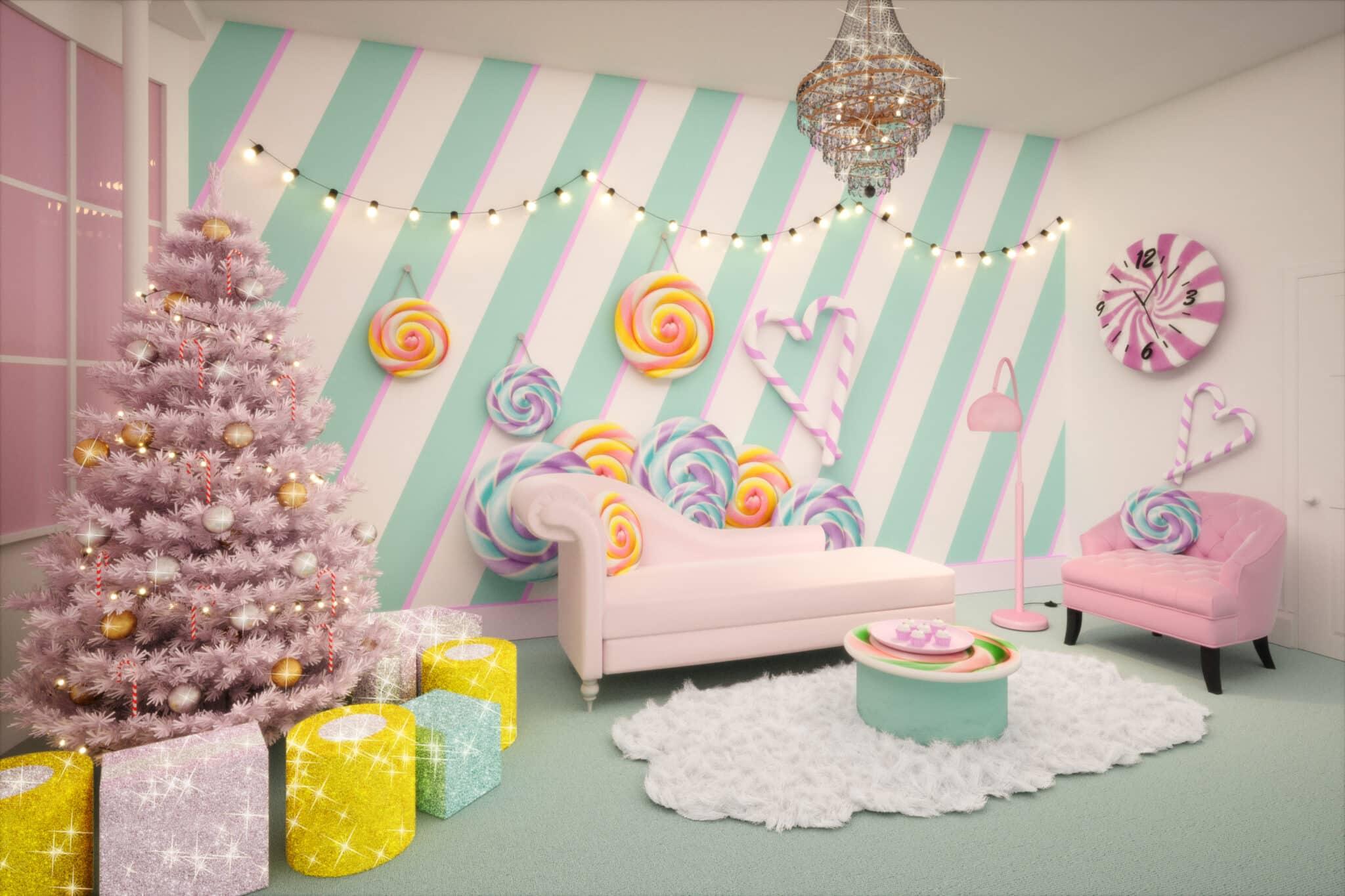 Candy Cane House: droomverblijf voor zoetekauwen