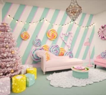 Huiskamer Candy Cane House
