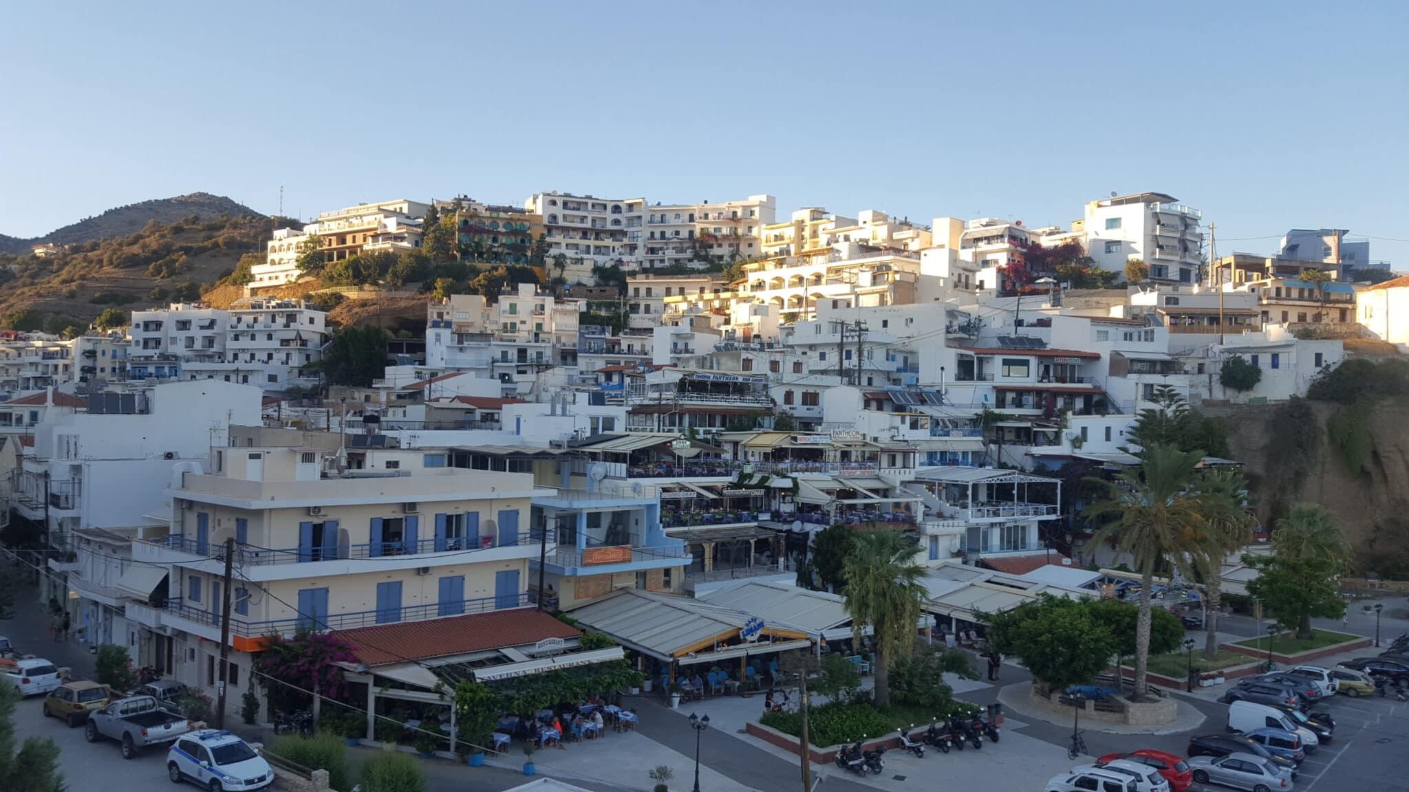 Het vissersdorpje Agia Galini