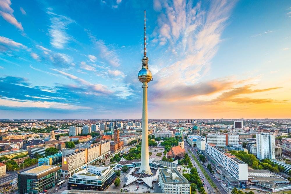 Het uitzicht op Berlijn