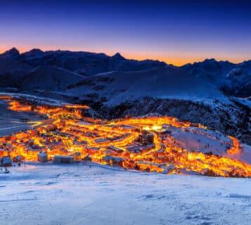 Skigebied in Frankrijk