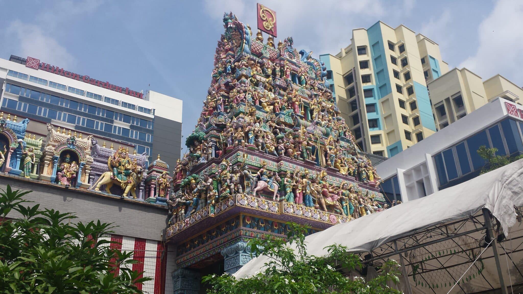 Een van de tempels van Little India