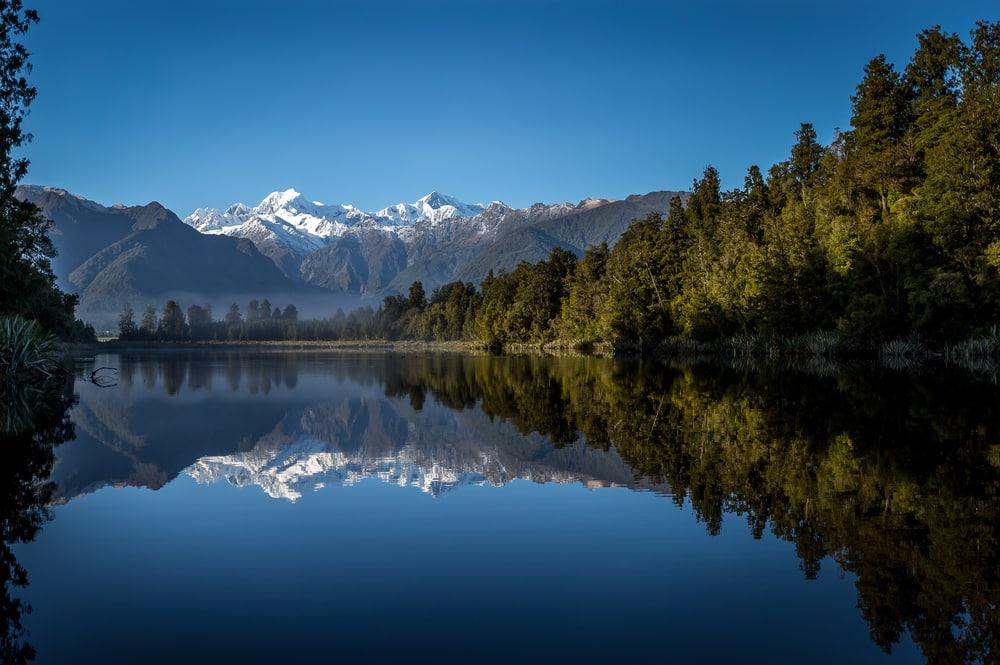 Uitzicht over de gletsjer in Nieuw-Zeeland