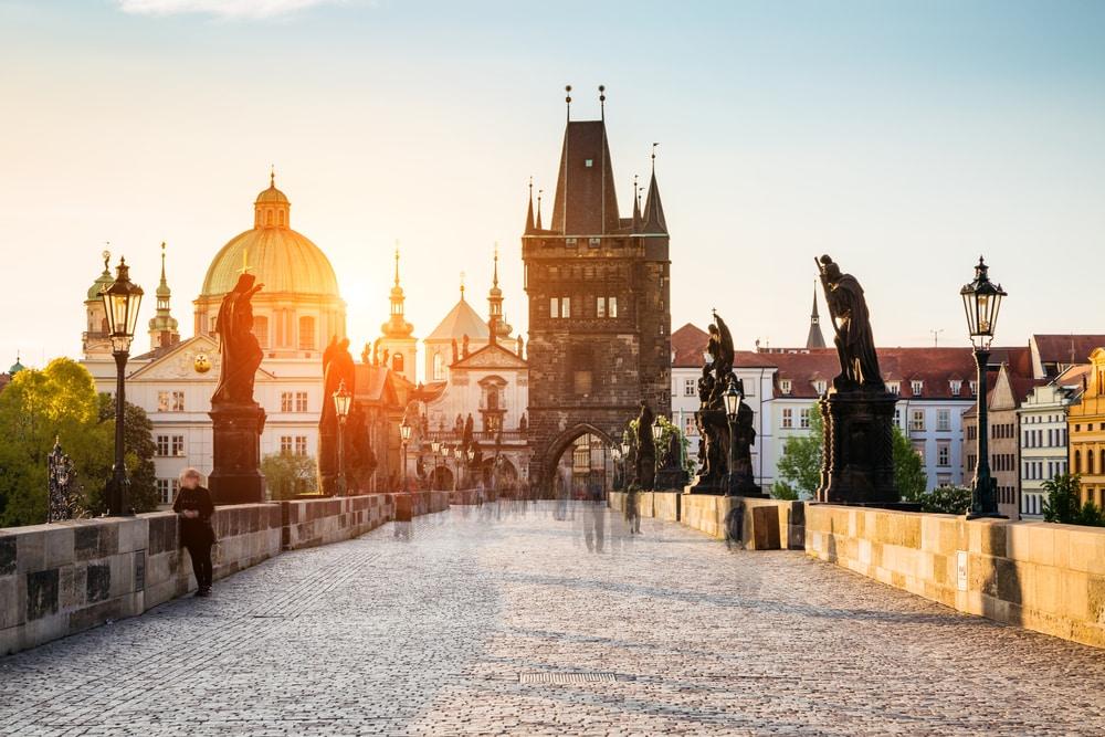 De beroemde brug van Praag