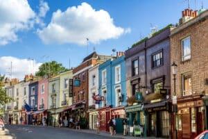 De beroemde wijk Notting Hill