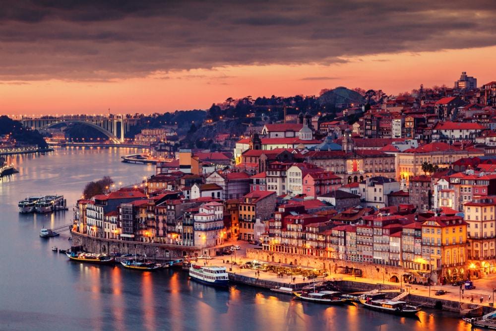 Het prachtige uitzicht van Porto