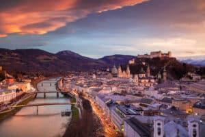 Uitzicht over Salzburg