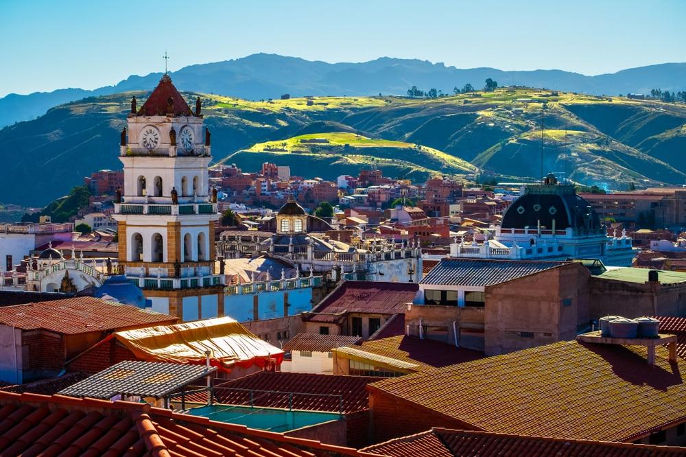 De prachtige stad in Bolivia