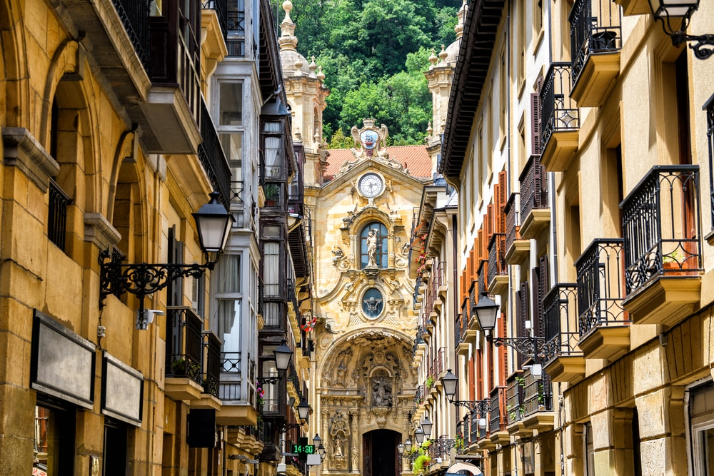 Het oude centrum van San Sebastian