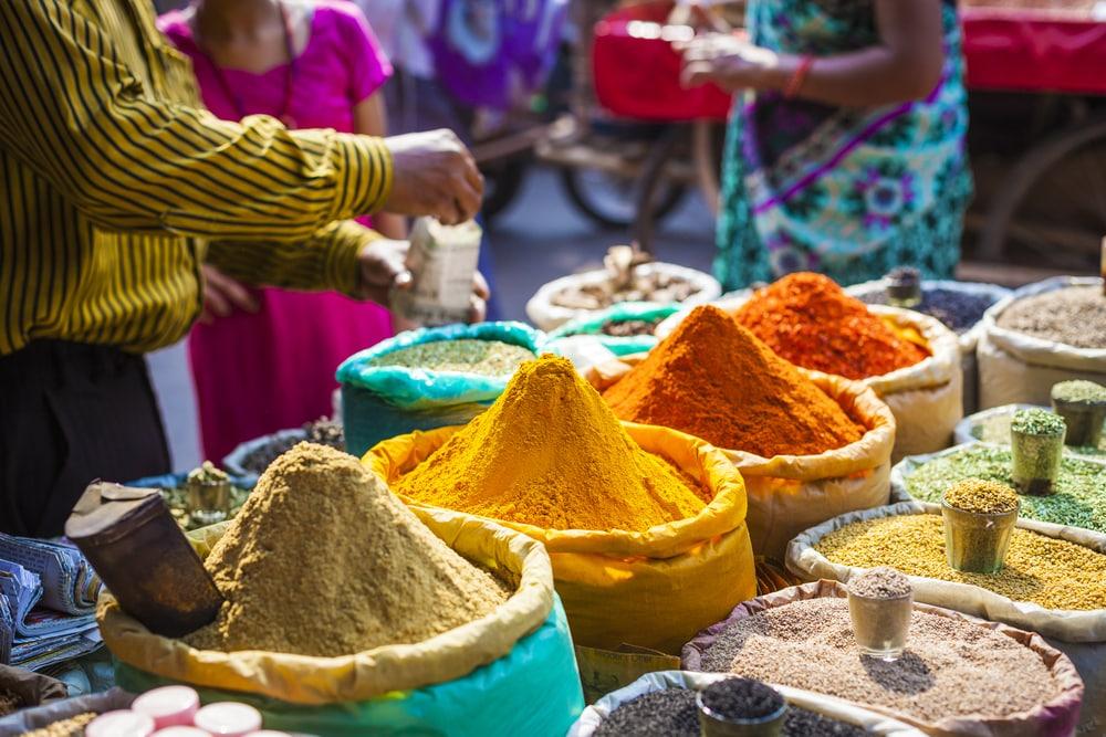 Kleurrijk eten in India