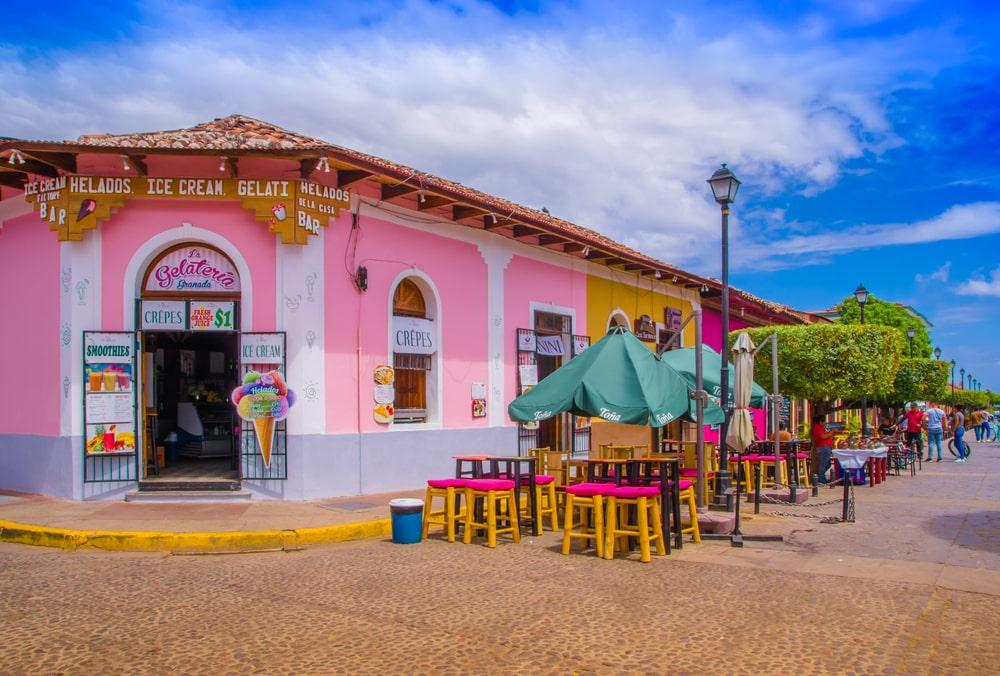 De stad Granada in Nicaragua