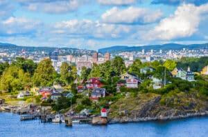De prachtige stad Oslo in Noorwegen