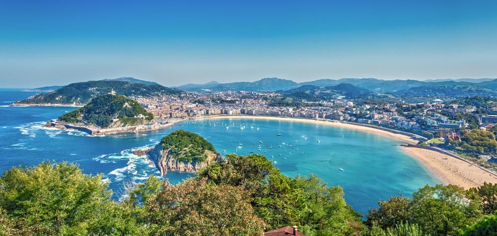 Uitzicht op de stad San Sebastian