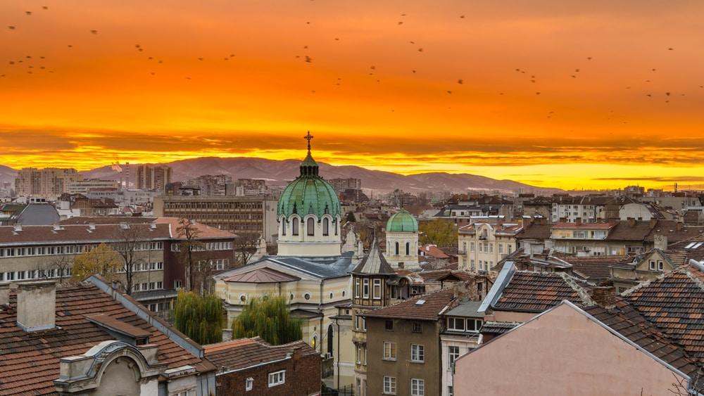 Uitzicht op de stad Sofia