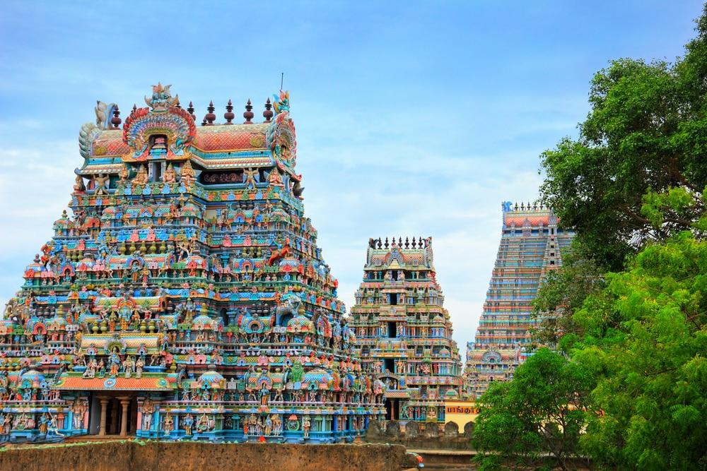 De kleurrijke tempels in India