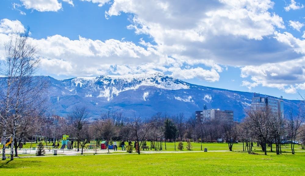 Uitzicht op de bergen van Vitosha Natuurpark