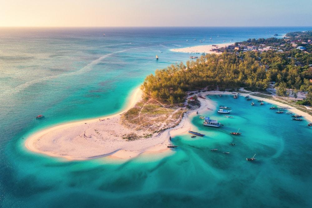 De stranden van Zanzibar