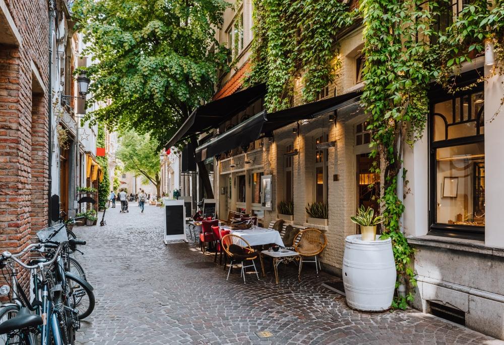 De gezellige stad Antwerpen
