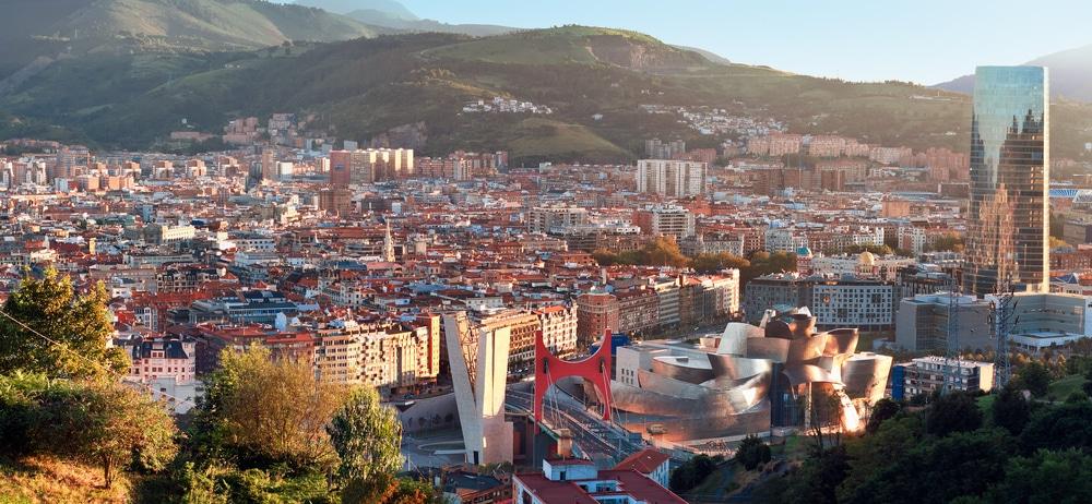 De stad Bilbao