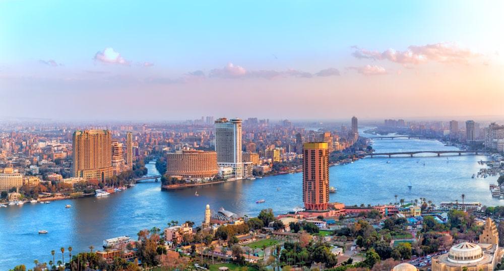 De moderne metropool van Egypte