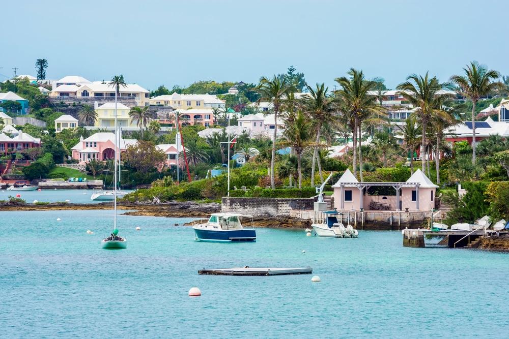 De hoofdstad van Bermuda