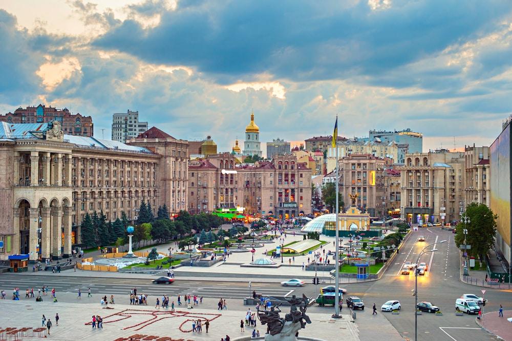 De hoofdstad van Oekraïne