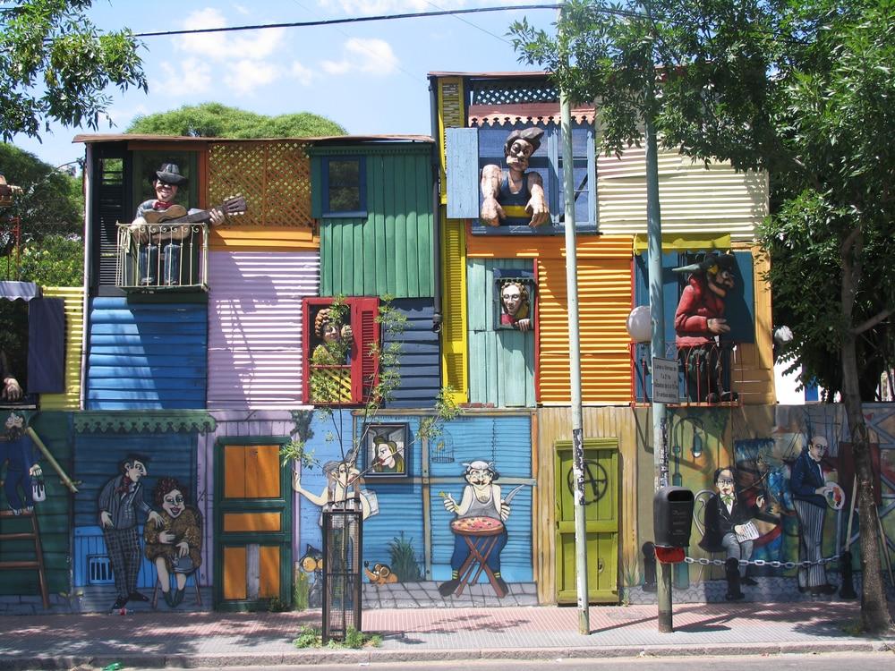 De kleurrijke wijk in Buenos Aires
