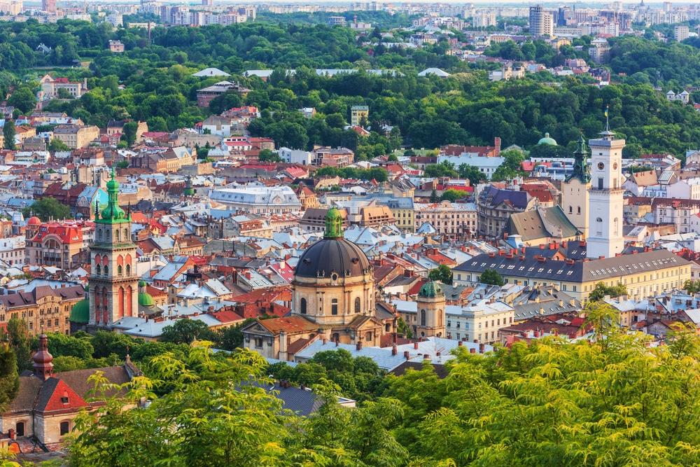 De kleurrijke stad Lviv