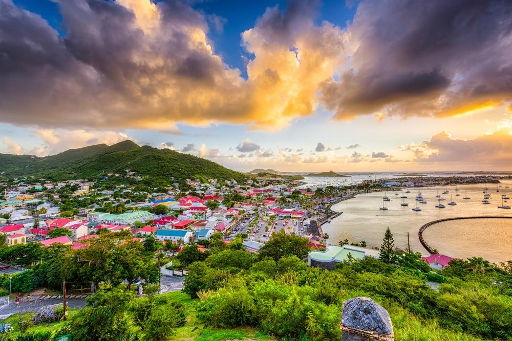 De Franse hoofdstad van Sint Maarten