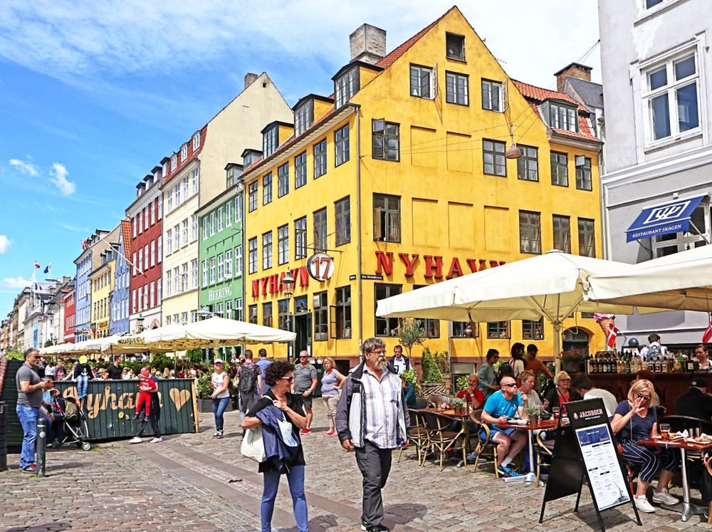 Drink koffie aan de Nyhavn