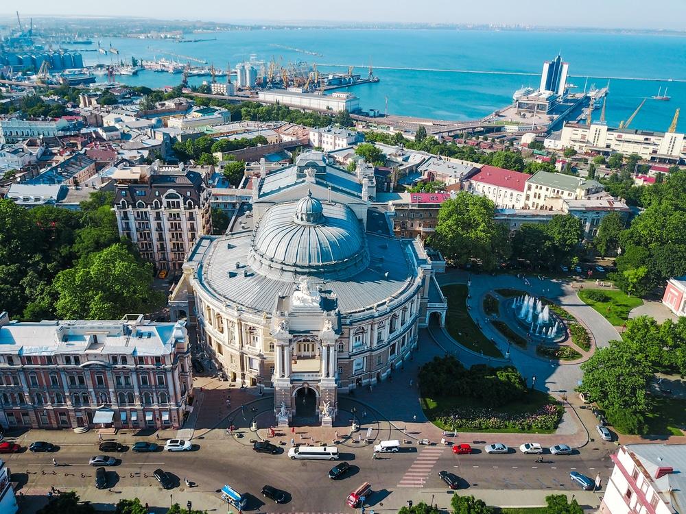 De havenstad Odessa