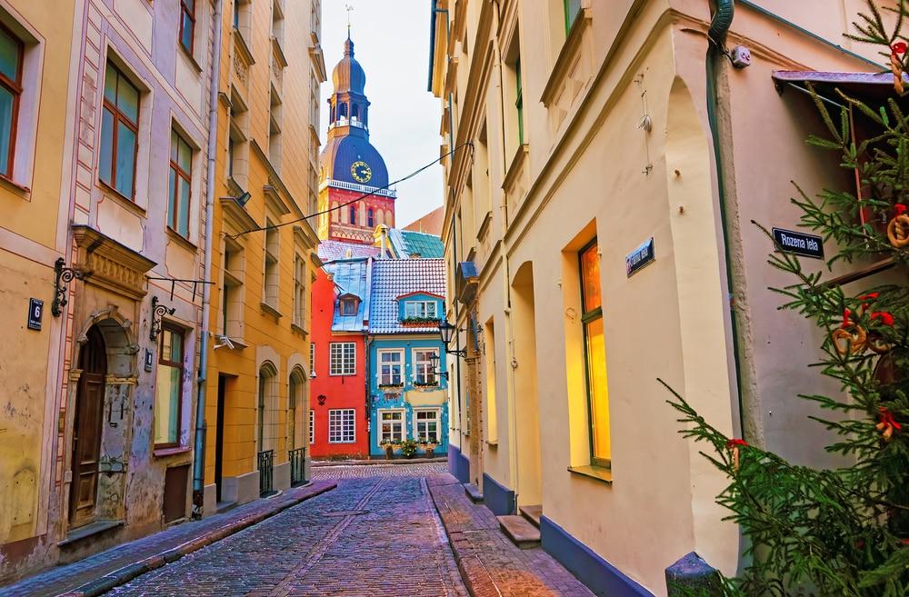 De hoofdstad Riga van Letland