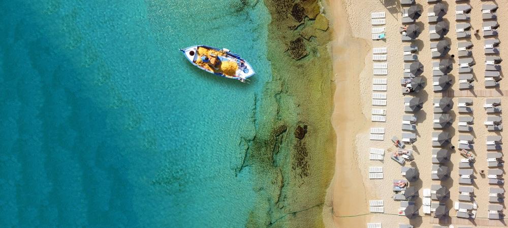Perfecte stranden op Mykonos